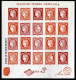 """Bloc-feuillet** de 2014 avec 20  timbres non dentel�s gomm�s """"Salon du Timbre - Paris 2014 - Bloc C�r�s"""""""