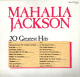 * LP *  MAHALIA JACKSON - 20 GREATEST HITS (England 1984 EX!!!) - Canti Gospel E Religiosi