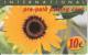 GREECE - Sunflower, International prepaid card 10 euro, mint