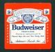 UNITED KINGDOM  -  Budweiser  Beermat as Scan