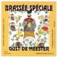ETIQUETTE BRASSEE SPECIALE GUST DE MEESTER 75 CL BIERE BLONDE SUR LIE A ESQUELBECQ 59470