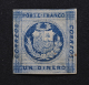 PEROU - 1860 - N° Yvert 6c - 1 Dinero, Fond Zig Zag. - Peru