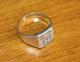 Bague Ancienne Argent Forme Chevalière Armoiries Du Pays Basque - Silver Ring - Ring