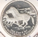MONGOLIE 250 TUGRIK 1992 SILVER PROOF HORSES ENDAGERED WILDLIFE - Mongolie