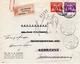 """1943 Aangetekende Brief Van Amsterdam  Naar Zandvoort En Naar Aerdenhout En Retour Vanwege """"vertrokken Zonder Adres"""" - Brieven En Documenten"""