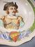 *ASSIETTE FAIENCERIE NIEDERWILLER DECOR SIGNE E.DUC - Tête Dessin Cuisine - Niderviller (FRA)