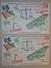 LOT DE 6 BUVARDS - Buvard Levure Alsacienne ALSA Tintin Jeu De Construction Type Trix Ou Meccano - Alimentaire (B3857) - Buvards, Protège-cahiers Illustrés