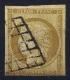 France: Yv Nr 1 Obl Used  Cachet Grille  1850 - 1849-1850 Ceres