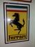 SI53D Italia Italy Quadro Stampa Originale Logo Ferrari 1978 Misura Cornice Esterna 44x66,5 Cm. - Fotografia