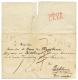 """DEPARTEMENTS CONQUIS : 1812 DEB.124 LEER Rouge Au Verso D'une Lettre(pd) Sans Texte Mais Daté """"LILLE 12 Aout 1812 - Ohne Zuordnung"""