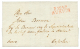 1813 P.124.P AURICH En Rouge Sur Lettre Avec Texte Pour AMSTERDAM. Superbe. - France
