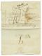 """An 8 P.86.P CHARLEROY + Trés Rare Cachet Bleu-vert Bau Gal DEB. ARM. DU RHIN Sur Lettre Avec Texte Daté """"L - France"""