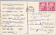 1956 QSL RADIO CARD W5DFF Ponka City Oklahoma USA To Germany,  Stamps, Postcard Cover - Radio Amatoriale