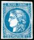 N°46B 20c Bleu R2, Type III - TB - 1870 Bordeaux Printing
