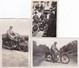3  PHOTOS   MOTO  TRIUMPH  550  Type  H  -  ANNEES    . - Photographs