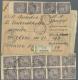 1922 (12.01.), R-Brief Mit Korrekten 10.000 Rub. (1 Marke Verlust) - Dabei 35er Einheit Mit Zwischensteg 8 Mm Von... - Russland & UdSSR