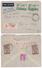 1937 POSTE AERIENNE PA N°14 X 2 Sur LETTRE RECOMMANDÉE Pour FORT DE FRANCE MARTINIQUE COMPLEMENT AU DOS TOUS PERFORÉS CN