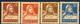 Svizzera 1924 - 28 N. 201A, 203A, 204A, 205A Carta Goffrata, Centrati MVLH (traccia Di Linguella Invisibile) Cat. € - Svizzera