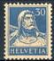 Svizzera 1924 - 28 N. 205A C. 30 Azzurro Carta Goffrata MVLH, Tracia Di Linguella Leggerissima, Invisibile Cat. € 2 - Nuovi