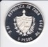 MONEDA DE PLATA DE CUBA DE 5 PESOS DEL AÑO 1989 DE LA OLIMPIADA DE BARCELONA 92 (COIN) BOXEO (OLIMPIC GAMES) - Cuba
