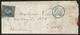N°14Af Oblitéré étoile Muette Bleue + CàD PARIS(60)3°-1 En Bleu Sur LAC De 1854