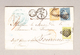 Schweiz 1856 (3 Farben Frankatur) Faltbrief Mit Zu#26Aa, 23B, 25B Aus Genève 10.6.1856 Nach Tournus Frankreich - 1854-1862 Helvetia (Non-dentelés)