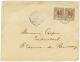 """""""N'GOMO"""" : 1914 05 S/ 15c(x2) Obl. N'GOMO GABON Sur Enveloppe Commerciale Pour La FRANCE. TTB. - France (former Colonies & Protectorates)"""