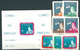 Paraguay, 1961, Allan Sheppard, Space 7 Stamps + Block Imperforated - Space