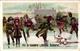 1 Card Ice-Skating Patinage Sur Glace Eislaufen PUB Fil A Coudre Julius SCHURER Calendar CALENDRIER 1900 - Kalenders