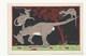 CHROMO - ANIMAUX HUMANISÉS - ILLUSTRATEUR : RAY LAMBERT - LA BALANÇOIRE - PUBLICITÉ FARINE LACTÉE  SALVY -  KANGOUROUS - Trade Cards