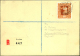 1950, 80 Rp. Gemälde I Auf R-Brief (blau Durchkreuzt, Wie In GB Bei R-Briefen üblich) Von Vaduz Nach... - Timbres