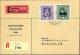 1949, 50 Rp. U. 60 Rp. Gemälde I, Selt. MiF Als Dienstmarkenersatz Auf R-Eil-Nahzone-Brief Der... - Stamps