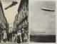 1915-1940, Lot Mit 2 Kunst-und 4 Fotokarten Mit Zeppelinmotiven Meist Ungebraucht - Stamps