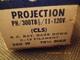 LAMPE PROJECTEUR CINEMA 110 / 120 V 300 W - GE - CULOT Ba 15s - CALOTTE NOIRE - - Projecteurs