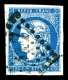 O N°44Aa, 20c Bleu Foncé Type I Report 1, TTB (certificat)   Cote: 1100 Euros   Qualité: O