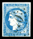 O N°44A, 20c Bleu Type I Report 1 Obl GC, TB (signé Brun/certificat)   Cote: 725 Euros   Qualité:...