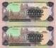 PAREJA CORRELATIVA DE NICARAGUA DE 200000 CORDOBAS DEL AÑO 1985 CON RESELLO (BANKNOTE) SIN CIRCULAR-UNCIRCULATED - Nicaragua