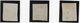 N°3 X 3 Dont Bleu Foncé Et Une Oblitération Grille Sans Fin - 1849-1850 Cérès