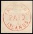 "Falkland Très Grande Rareté Cachet Rond ""Falkland Islands Paid"" 1861/1877. Signé Pfennhiger. A Saisir!"