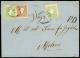 OSTIGLIA Co, Lettera Del 16.9.1862 Diretta A Milano Affrancata Con Un 10 Sd. (31) E Due 3 Sd.verde (35), Cert....