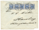 ZANZIBAR : 1892 GERMANY 20pf Strip Of 5 Canc. DEUTSCHE SEEPOST AFRIKANISCHE HAUPTLINIE On Commercial Envelope From ZANZI - Zanzibar (1963-1968)