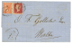 CONSTANTINOPLE : 1868 1p + 4d Canc. C + CONSTANTINOPLE(vers) On Entire Letter To MALTA. Vvf. - Great Britain