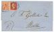 CONSTANTINOPLE : 1868 1p + 4d Canc. C + CONSTANTINOPLE(vers) On Entire Letter To MALTA. Vvf. - Grande-Bretagne