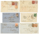GREAT BRITAIN : 1866/76 Lot 6 Covers To EGYPT, TUNISIA, RHODES, TURKEY, CATTARO. Superb.