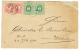 DDSG : 1878 HUNGARY 5kr(x2) canc. BAZIAS + DDSG 10k Pair canc. AGENTIE DDSG SISTOV on envelope (some faults) to WIEN. Un