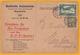 1922 - CP Commerciale De Mannheim Vers Munich, Allemagne - Affrt 50 Pf Dont 1 Timbre Par Avion - Allemagne