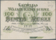 Latvia /Lettland: Rare Uniface Front PROOF Print Of 100 Rubli 1919 P. 7p, W/o Serial, Sign. Erhards, Black/green Print O - Lettonia