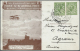 Flugpost Europa: 1912, FIRST UK AERIAL POST, Special Card With Brown Picture And Special Cancellation Sent With Longer C