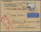 Zeppelinpost Deutschland: 1928, Brief Mit 4 RM Zeppelin Zur Nordamerikafahrt Ab Friedrichshafen Via Amerika Nach Japan.