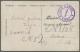 """Estland: 1919, Fieldpost Card (?) With Blue Mark """"AMBLA KÖRGEM ALGKOOL"""" (Ambla Higher Primary School). - Estland"""